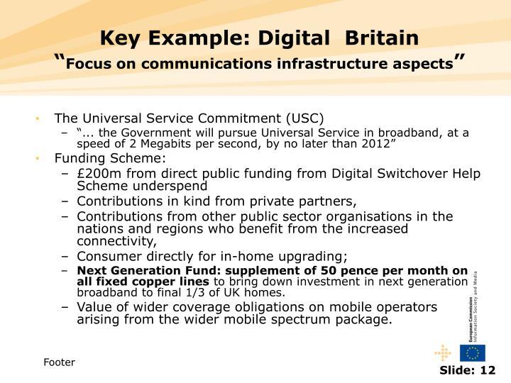 Key Example: Digital  Britain