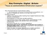 key example digital britain focus on communications infrastructure aspects