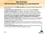 key example us broadband strategy for rural america