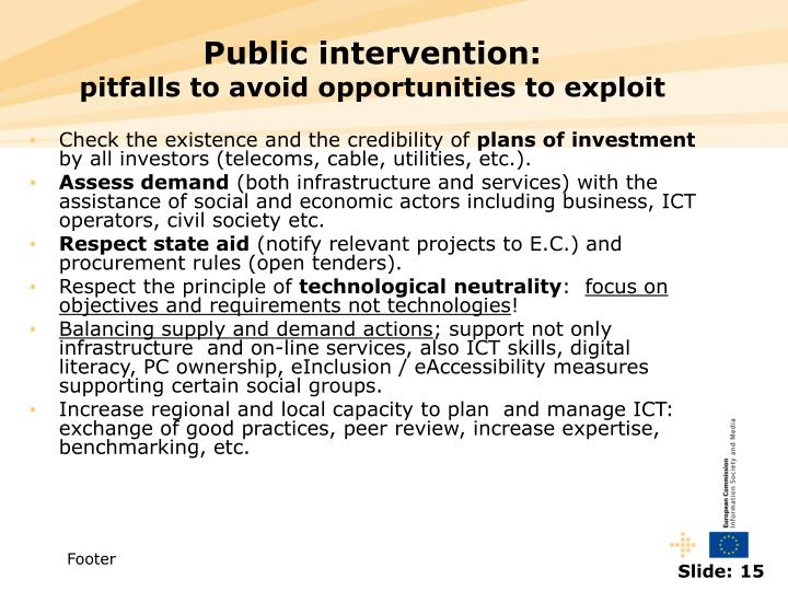 Public intervention: