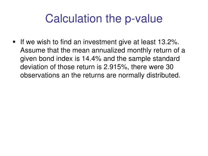 Calculation the p-value