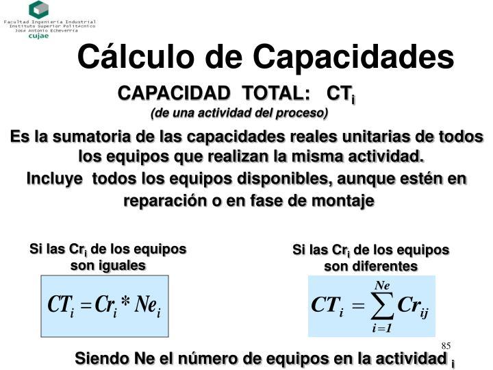 Cálculo de Capacidades