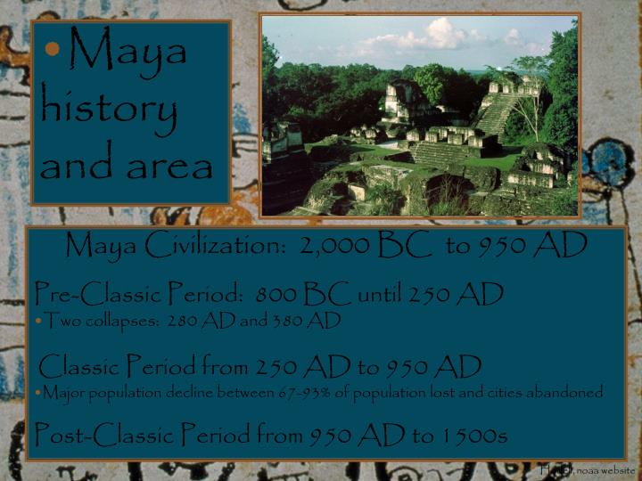 Maya history and area