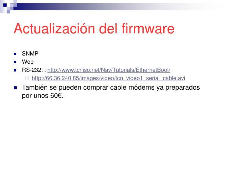 Actualización del firmware