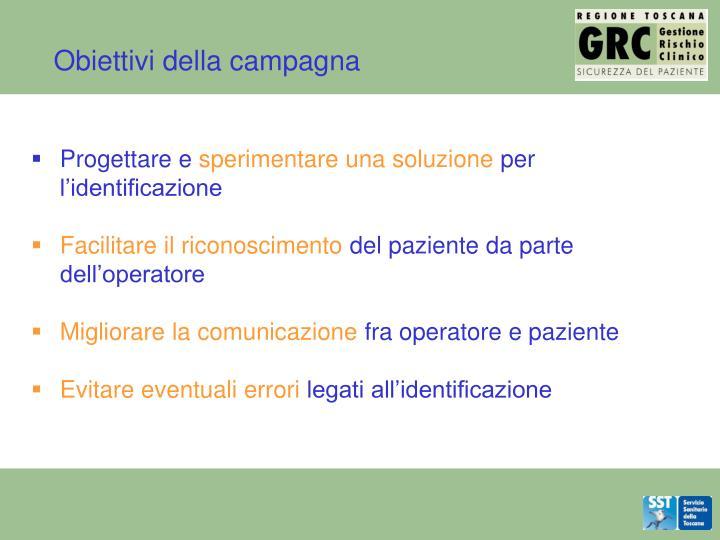 Obiettivi della campagna
