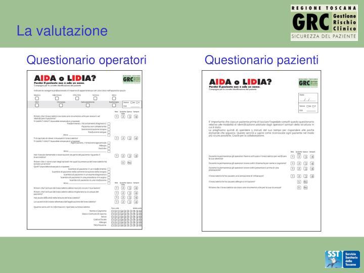 La valutazione