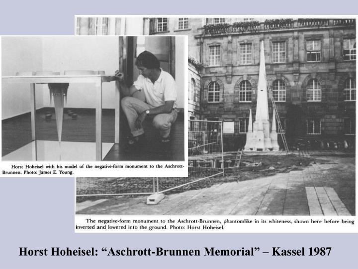 """Horst Hoheisel: """"Aschrott-Brunnen Memorial"""" – Kassel 1987"""