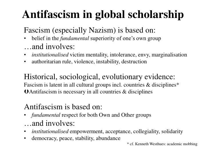 Antifascism in global scholarship