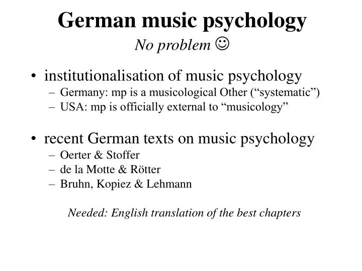 German music psychology