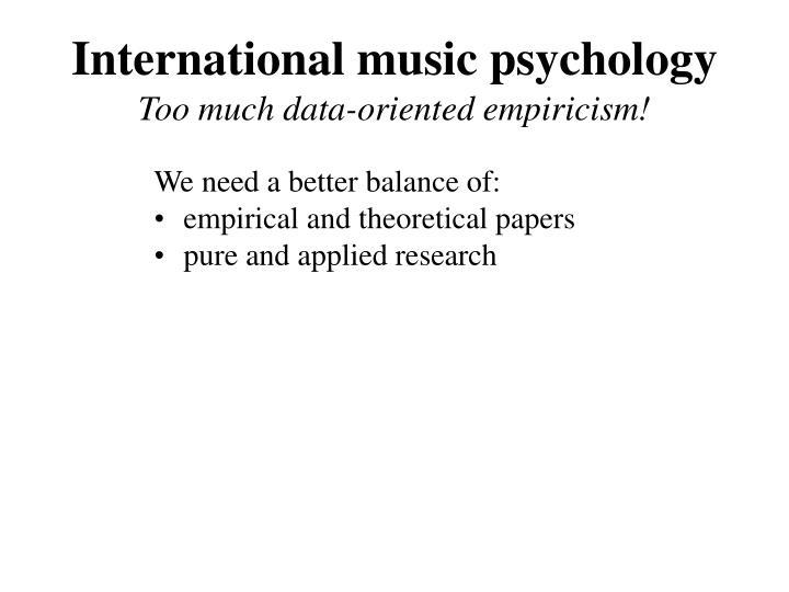 International music psychology