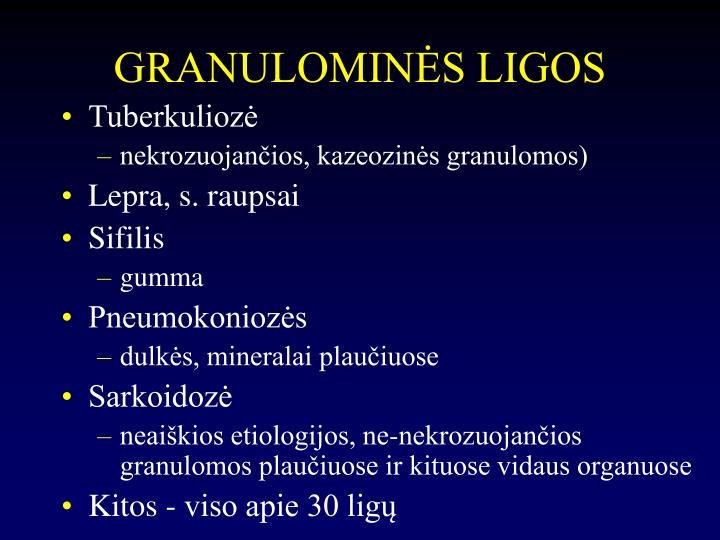 GRANULOMINĖS LIGOS