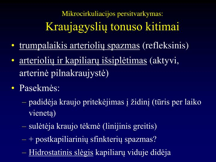 Mikrocirkuliacijos persitvarkymas