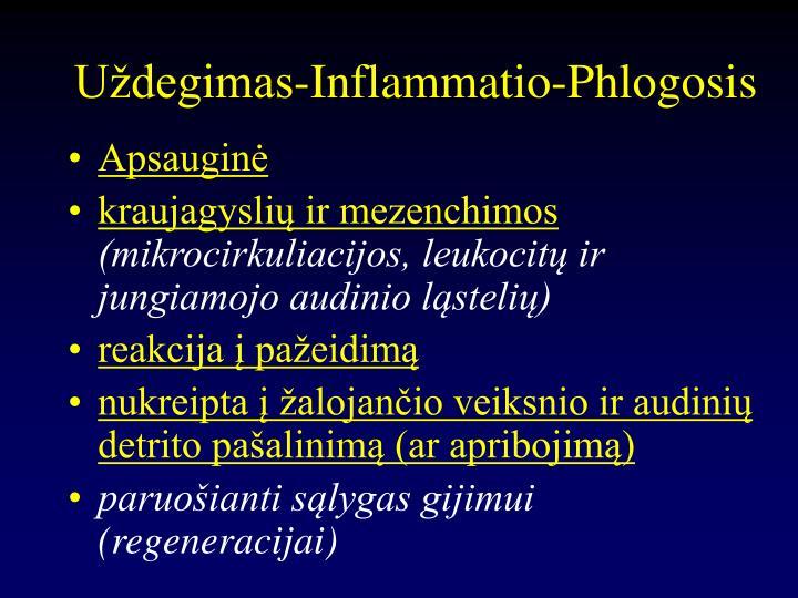 Uždegimas-Inflammatio-Phlogosis