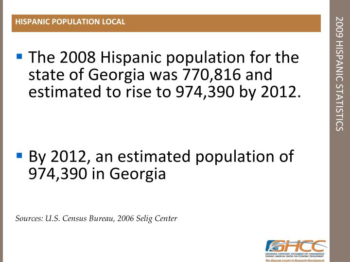 HISPANIC POPULATION LOCAL