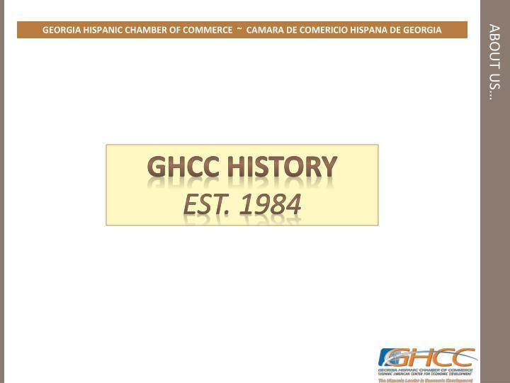 GEORGIA HISPANIC CHAMBER OF COMMERCE  ~  CAMARA DE COMERICIO HISPANA DE GEORGIA