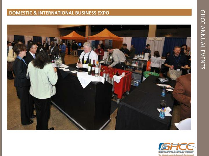 DOMESTIC & INTERNATIONAL BUSINESS EXPO