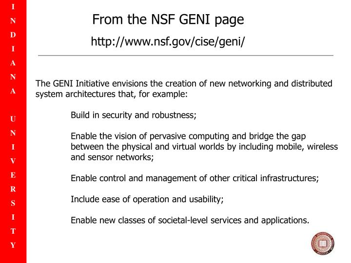 From the NSF GENI page