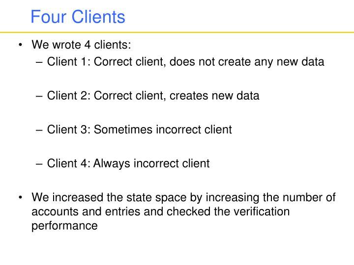 Four Clients