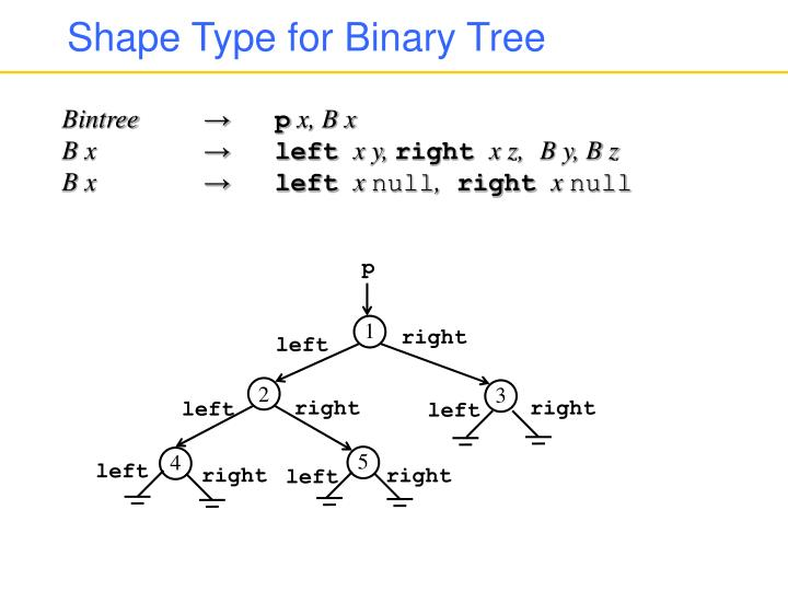 Shape Type for Binary Tree