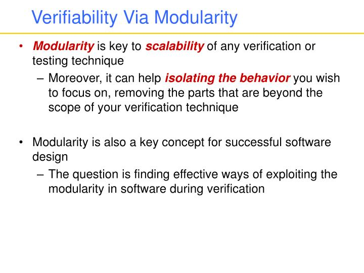 Verifiability Via Modularity