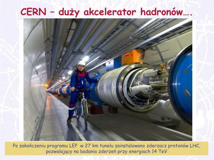 CERN – duży akcelerator hadronów….