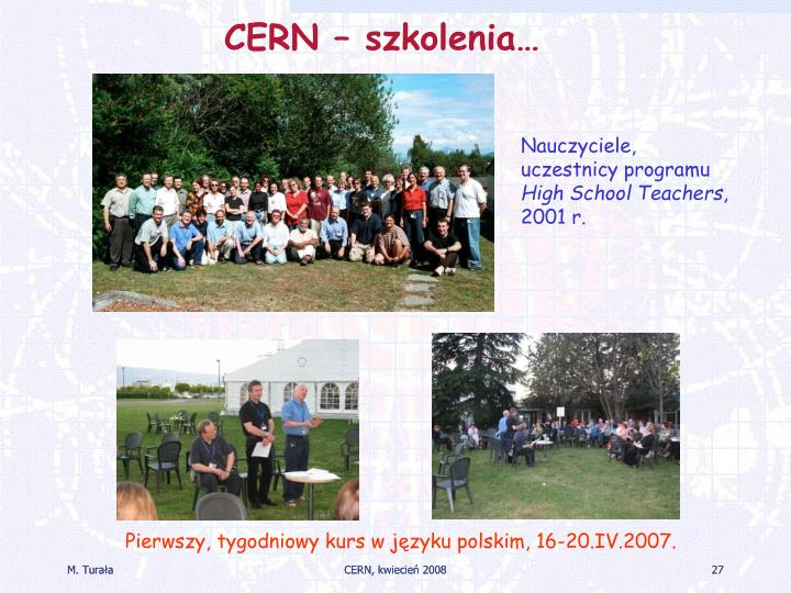 CERN – szkolenia…