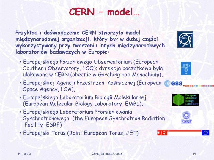 CERN – model…