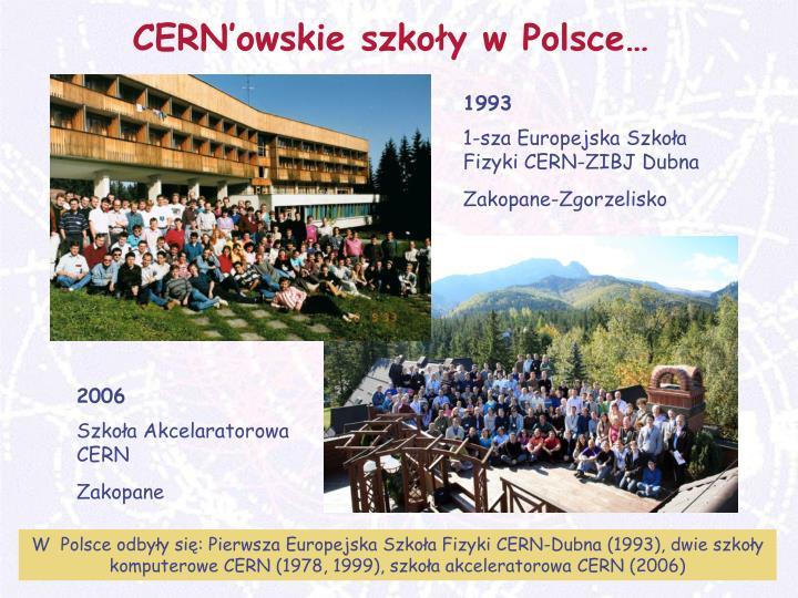 CERN'owskie szkoły w Polsce…