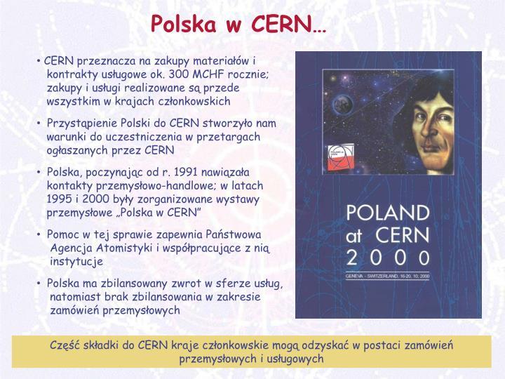 Polska w CERN…