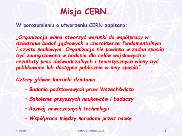Misja CERN…