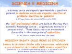 scienza e medicina