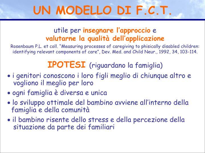 UN MODELLO DI F.C.T.