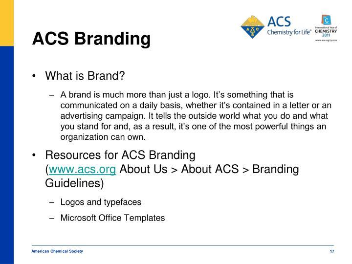 ACS Branding