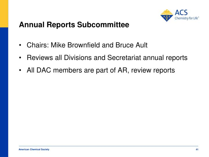 Annual Reports Subcommittee