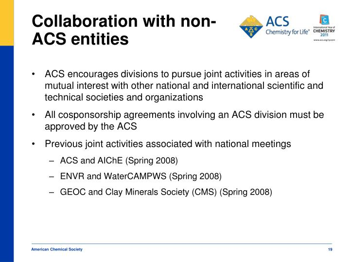 Collaboration with non-ACS entities