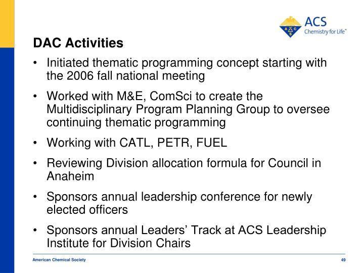 DAC Activities