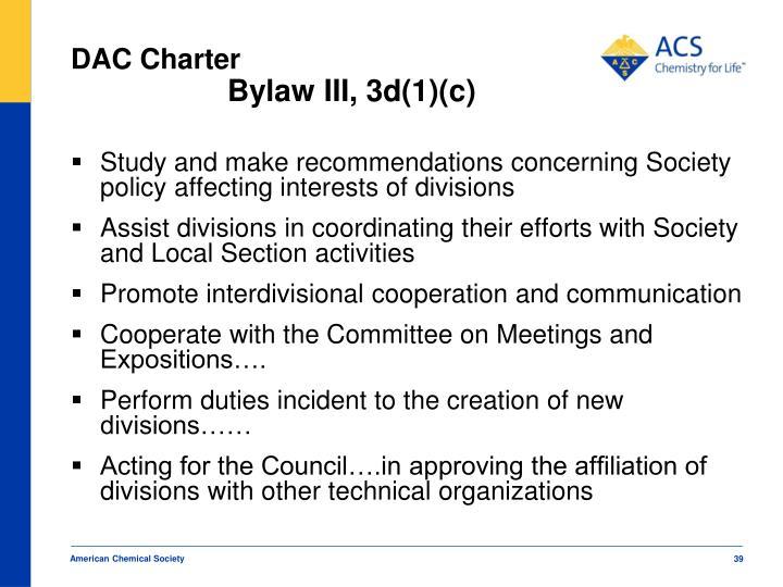 DAC Charter