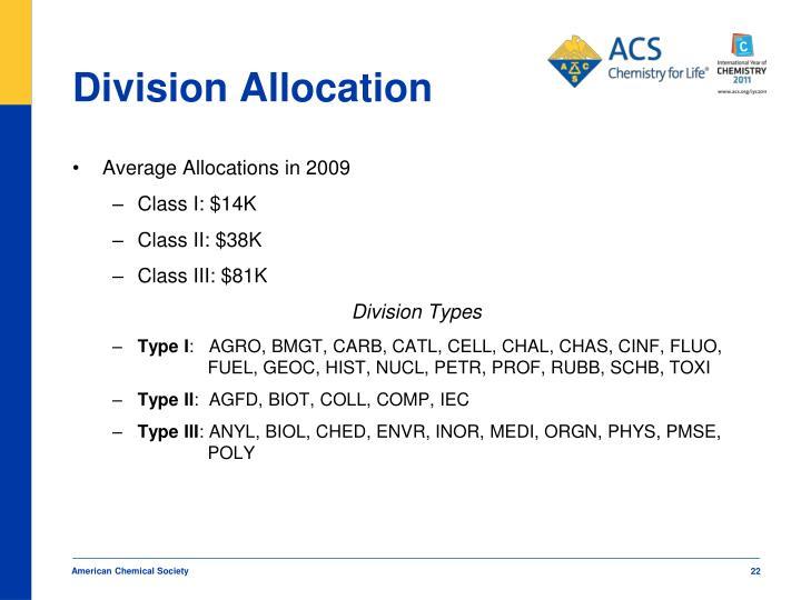 Division Allocation