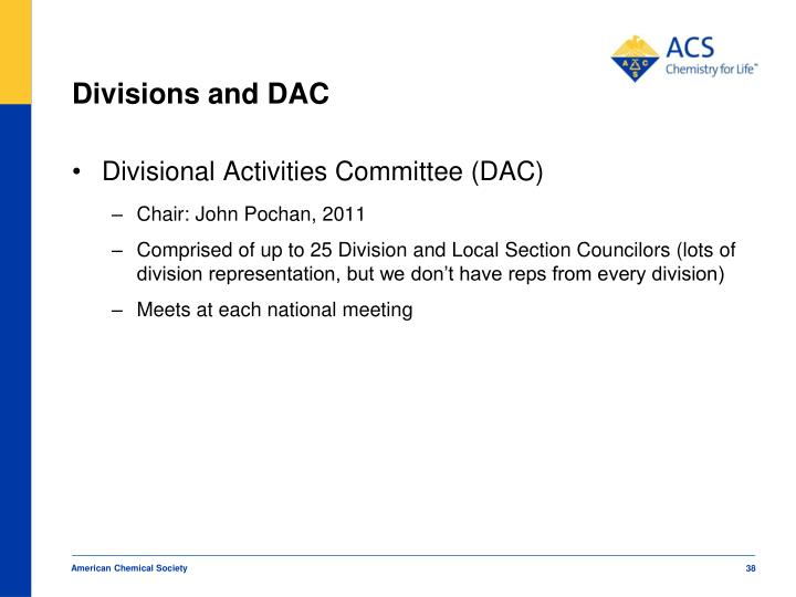 Divisions and DAC