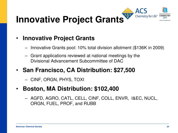 Innovative Project Grants