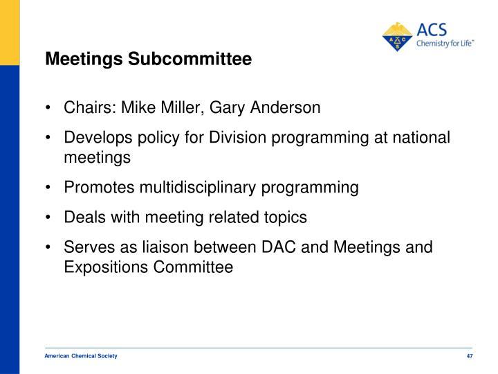 Meetings Subcommittee