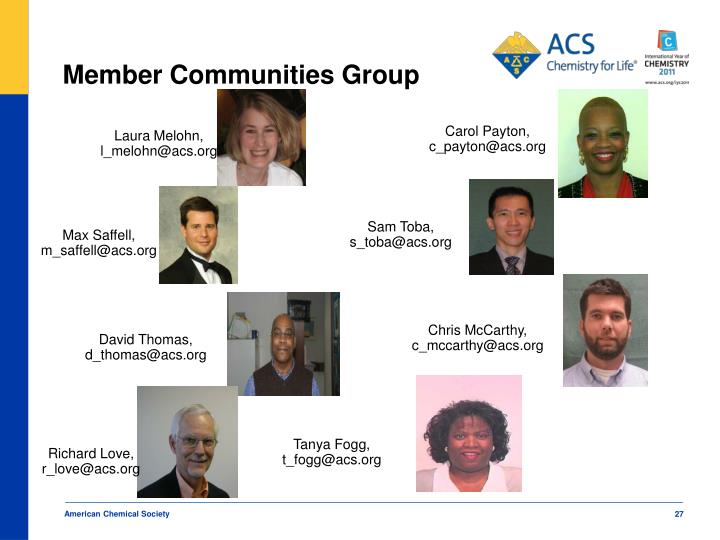 Member Communities Group
