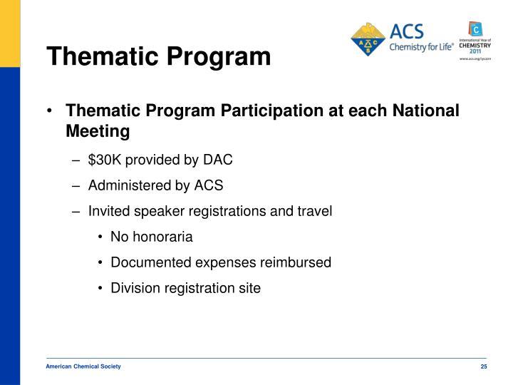Thematic Program