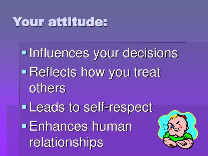 Your attitude: