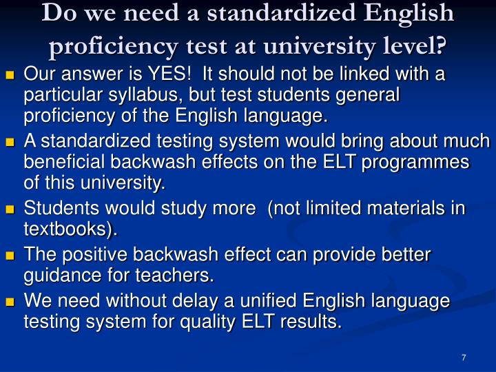standardized english proficiency test pdf