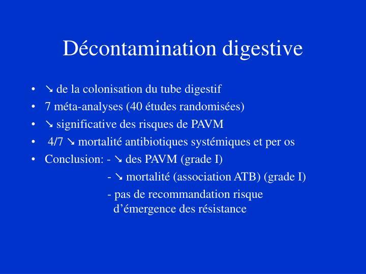 Décontamination digestive