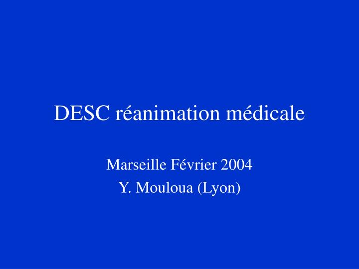 desc r animation m dicale