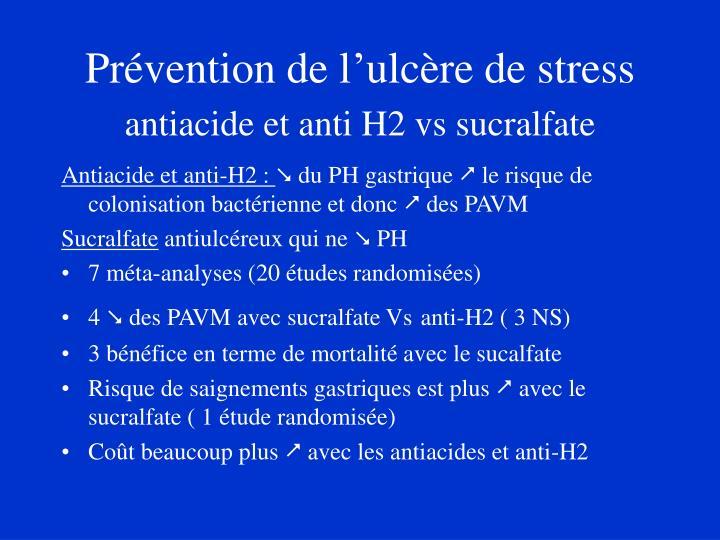 Prévention de l'ulcère de stress