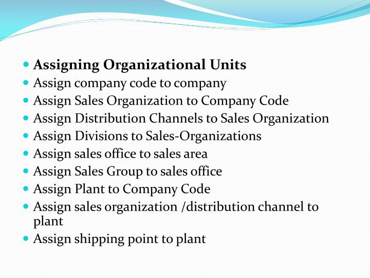 Assigning Organizational Units