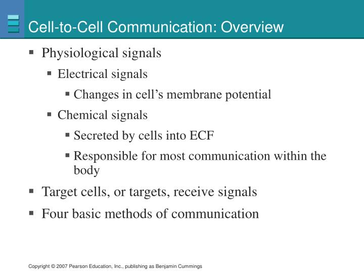 Cell to cell communication overview